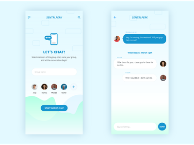 013 - Direct Message ui  ux message message app social group chat direct messaging design daily 100 challenge illustration vector mobile ux dailyui digital ui daily 100