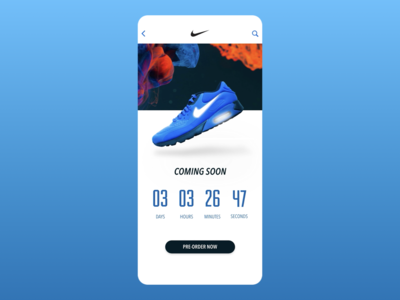 014 - Countdown Timer keynote adobexd countdown nike ui  ux ecommerce daily 100 challenge brand vector mobile ux dailyui digital ui design countdown timer