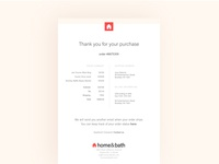017 - Email receipt minimal flat web branding typography ecommerce ui  ux daily 100 challenge brand vector ux dailyui digital ui design