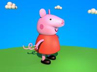 Social man Peppa Pig 3D