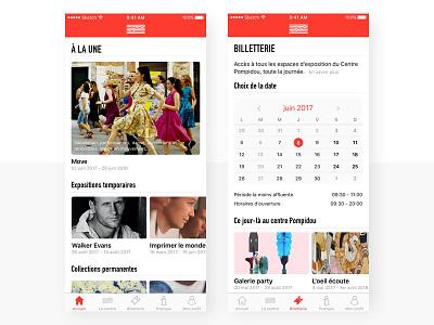Pompidou - Redesign app #1 mobile app ui ux interface mobile app museum