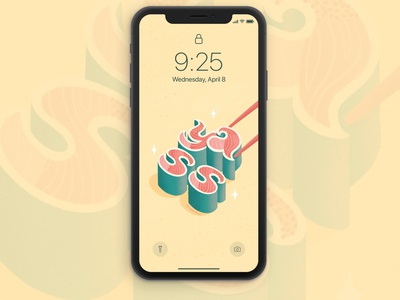 Yass Sushi Lettering Free Wallpaper phonewallpaper wallpaper phone sushi food illustration food type food food lettering typography hand lettering lettering