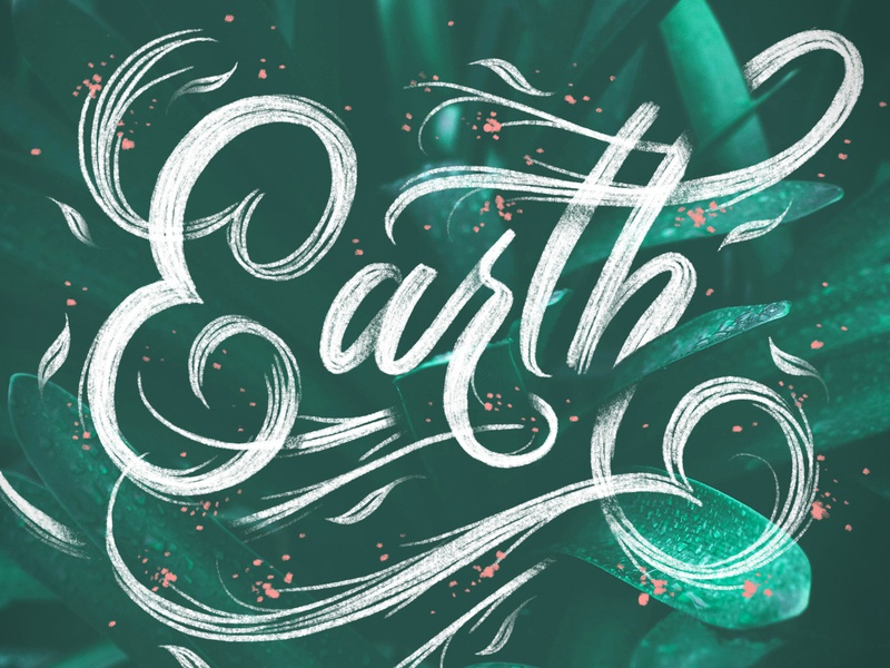 Earth day Lettering earthday earth script letters procreate typography hand lettering lettering