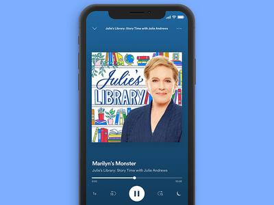 Julie's Library Podcast Artwork bookshelf books library podcast cover podcast cover art podcasts podcast art podcast illustration typography hand lettering lettering