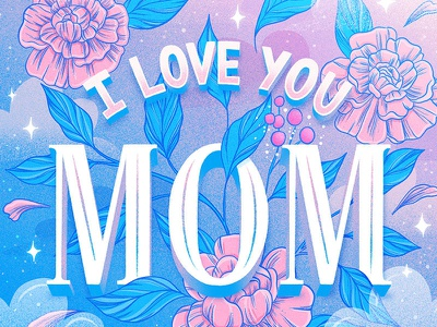 Mother's Day Lettering magical stars pastel love mothers motherhood mothersday flowers floral art illustration typography hand lettering lettering