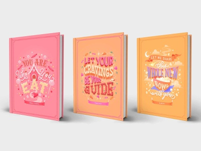 Hungrily Ever After Book Art Collection type art disney type fairytales fairy tale book cover art food illustration food type letters food lettering food illustration typography hand lettering lettering