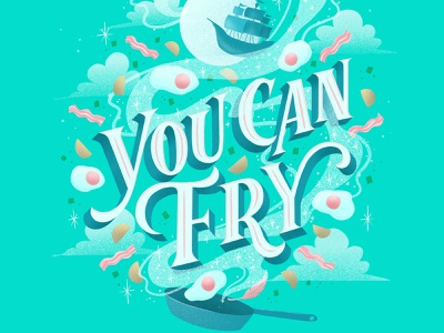 Hungrily Ever After: Peter Pan fairytale pirates type teal disney captain hook pirate brunch peter pan book cover art food illustration procreate letters food typography hand lettering lettering