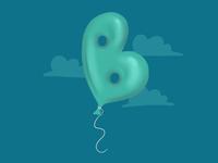 Balloon letter B