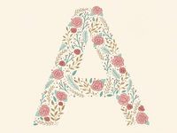 """Floral """"A"""""""