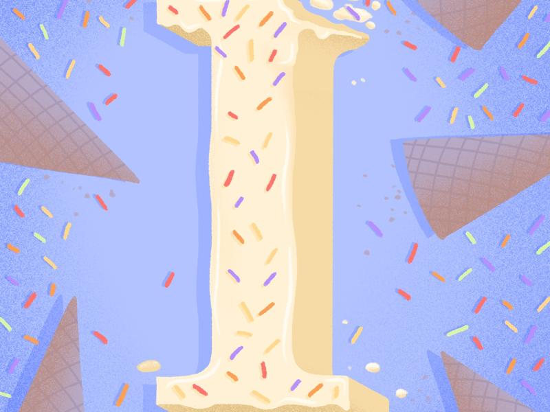 36 days of sweet type — I food lettering food type food hand lettering lettering alphabet letters ice cream dessert