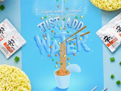 Just Add Water (ramen lettering)