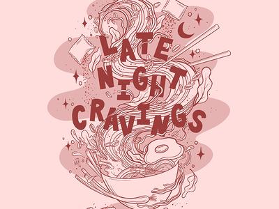 Late Night Ramen Cravings Line Work