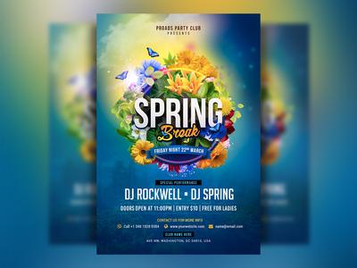 Spring Break Flyer Template