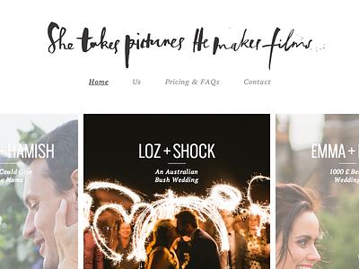 STPHMF web typography photography browser minimal ui html