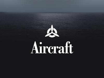 Aircraft brand branding logo typography web design