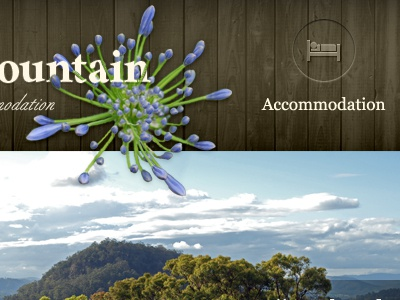 Country Accommodation texture wood header navigation country flower organic