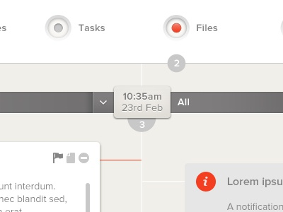 Collaborative ui button time message count icon label switch