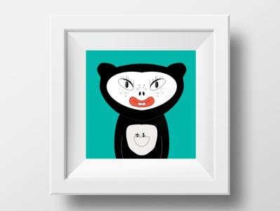 Animal kid ipad procreate app illustration
