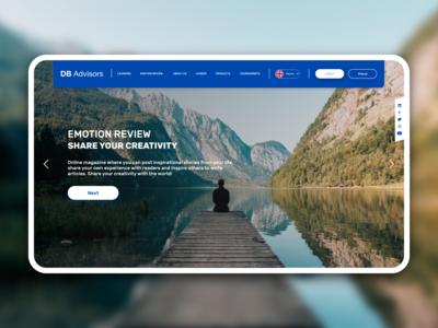 DB Advisors website redesign