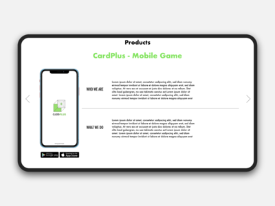 Teching website Product page