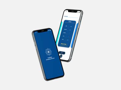 Kubirub Company App 1.0 UI design