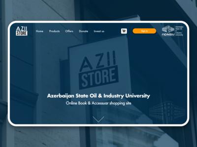 AZII Store online bookshop ui offer