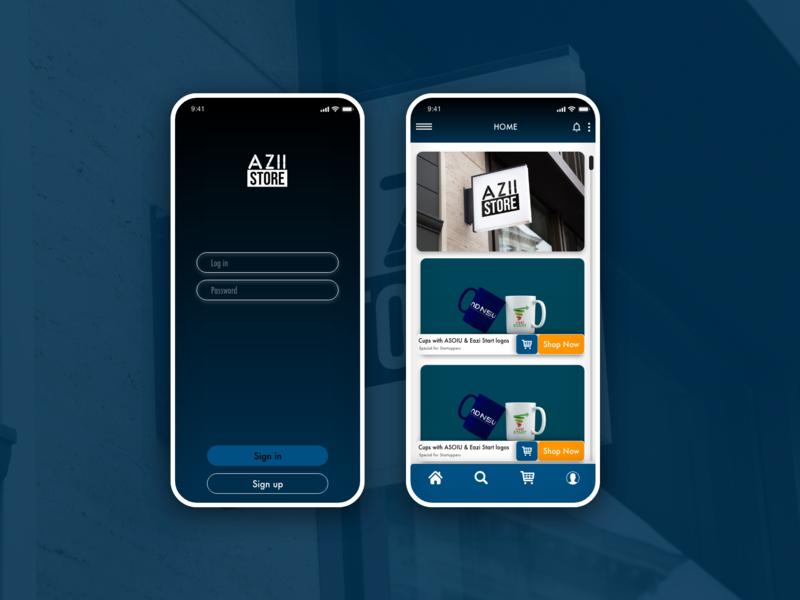 AZII Store online bookshop APP ui offer mobile app uixdesign app apps application app  design app ux design design ux uiux ui