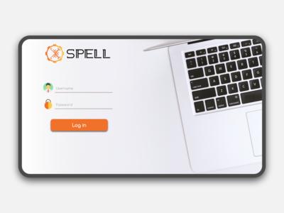 SPELL CMS Sign in UI Design