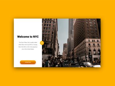 City Tour Website UI