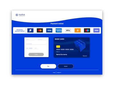 KubiRub Company Service Payment page UI #DailyUI