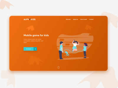 AlphaKids game - landing page #DailyUI #003days