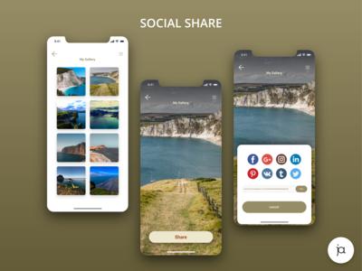 Social Share page #DailyUI010 #DailyUI