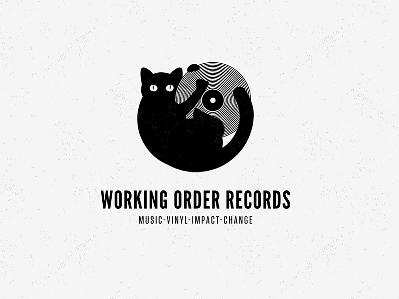 Working Order Records Logo vinyl cat record music
