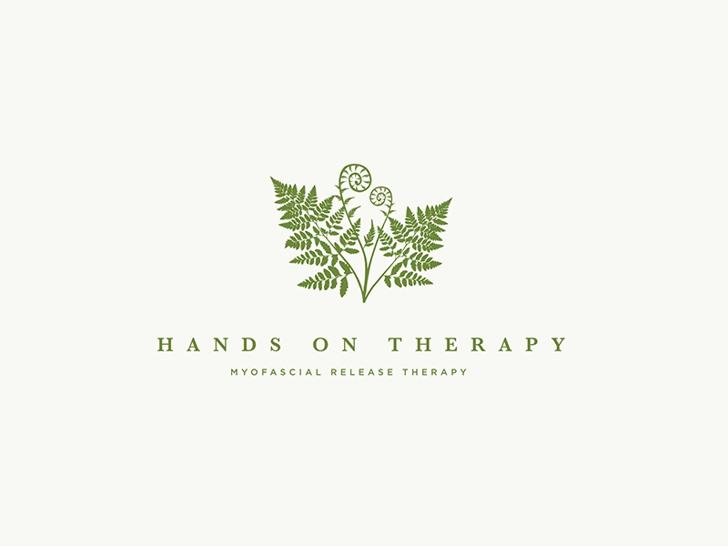 Hands on Therapy Logo fern plant nature massage health holistic natural myofascial