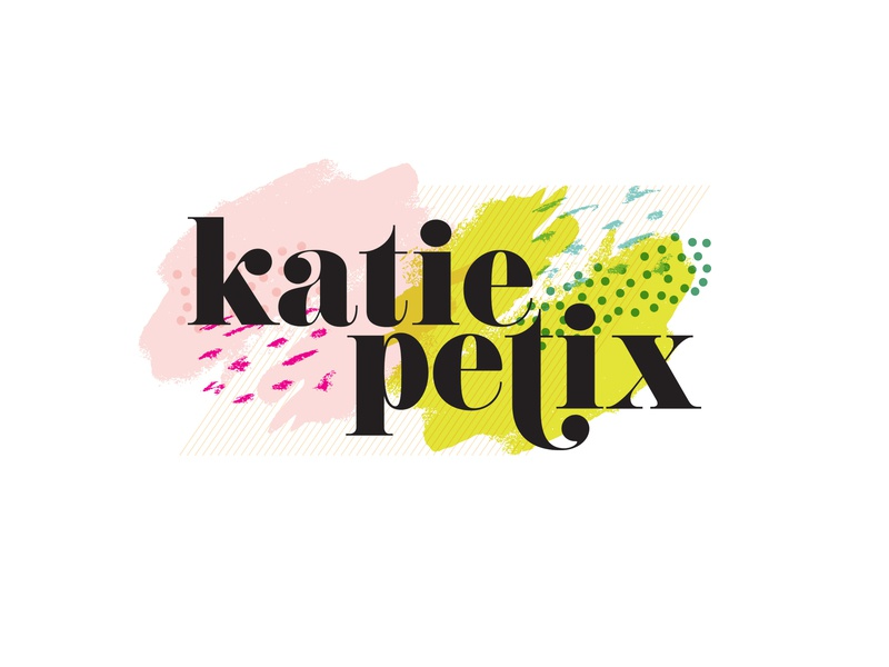 Katie Petix Social Media bold color print and pattern identity neon pop art bold logo