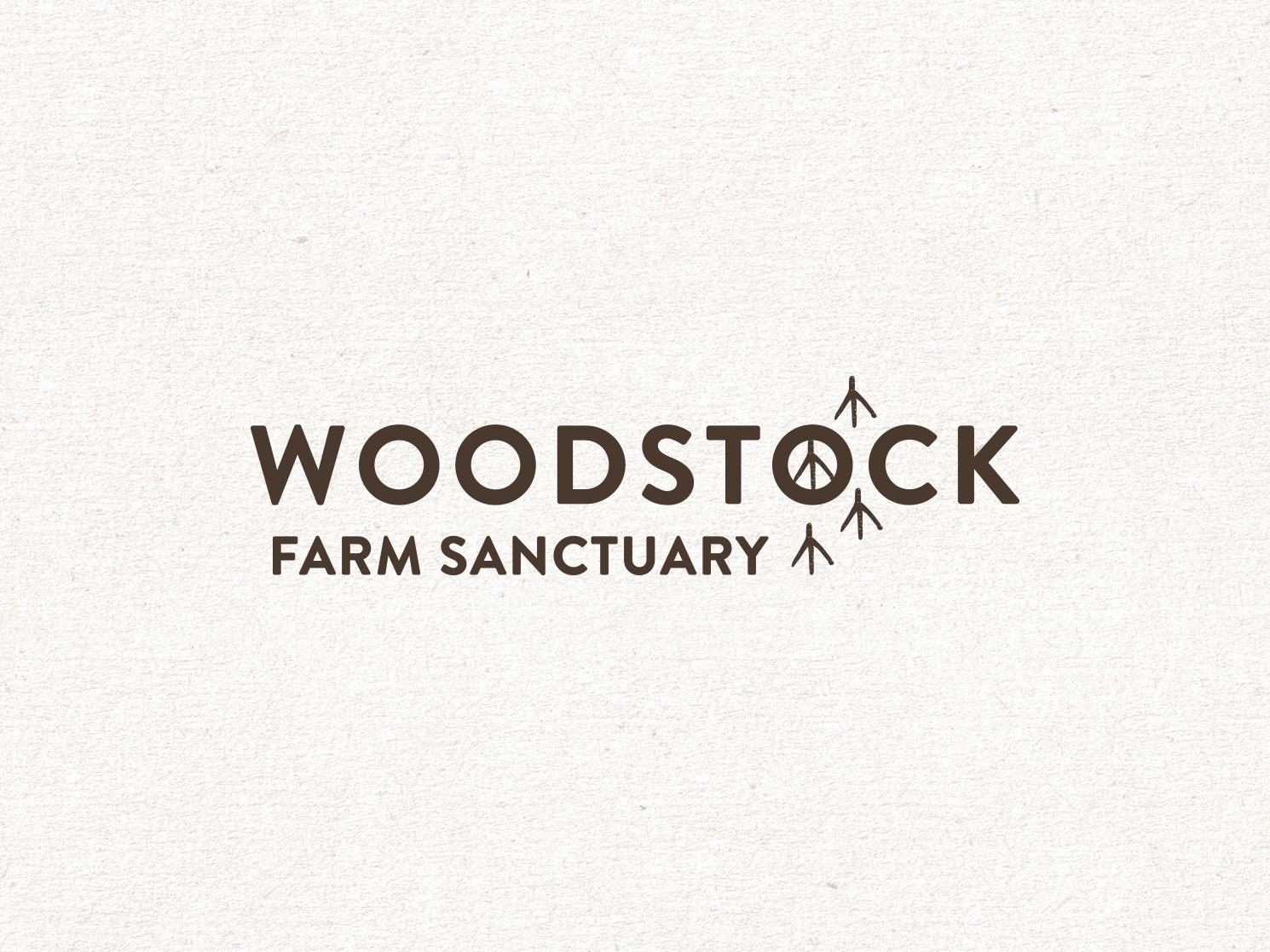 Woodstock Farm Sanctuary Logo earth tones logo farm logo peace sign sanctuary animal