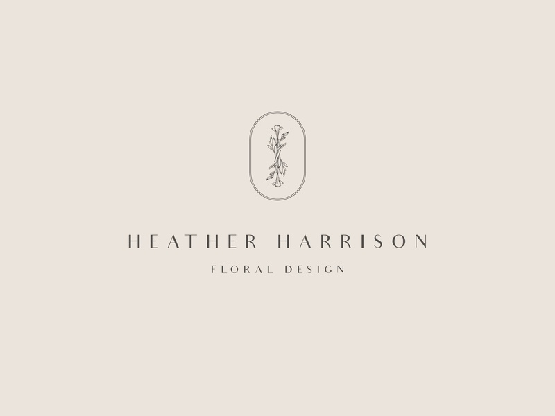 Heather Harrison Floral Designer Logo elegant floral flower logo