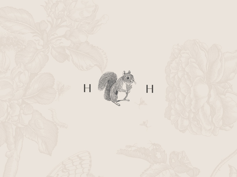 Heather Harrison Floral Designer Logo brand and identity florist floral flower illustration animal squirrel brand assets logo