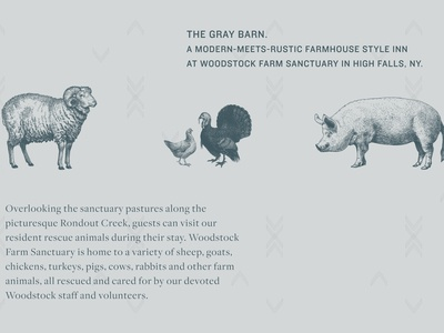 The Gray Barn Woodstock Sanctuary Brand Assets