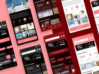 Nikahin Marketplace - Light, Dim, Dark Mode marketplace wedding design nikahin ui app features details exploration clean