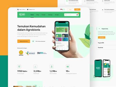 EPAS - Agribusiness Market Homepage fertilizer agri market ecommerce agribusiness agriculture website clean exploration details features homepage
