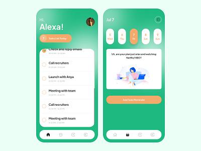 To-do List App UI simple mobile app minimal list to do uiux application design gradient reminder to-do ui exploration app features clean