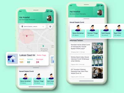 Covid-19 Information & Tracker App covidsymptoms symptoms maps news tracker covid-19 exploration app details homepage features clean