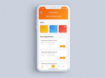 Dashboard BayiSehat | #explore bayisehat visualdesign iphonex interfacedesign interface uxerexperience userinterface mobiledesign appdesign dashboard