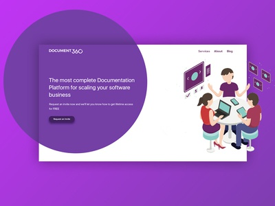 [redesign] Document360 - Landing Page clean illustration document360 landing page redesign