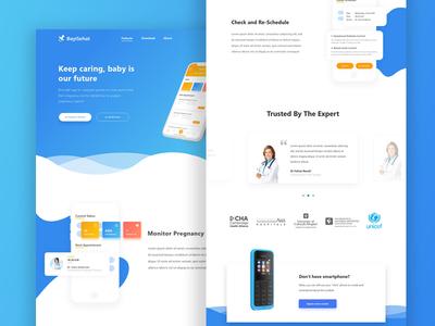 Landing Page BayiSehat baby medical medic bayisehat exploration website blue landingpage