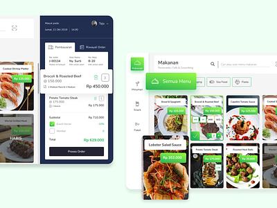 Restoranku - POS Cashier food app foodie menu gradient exploration restaurant food dashboard clean cashier