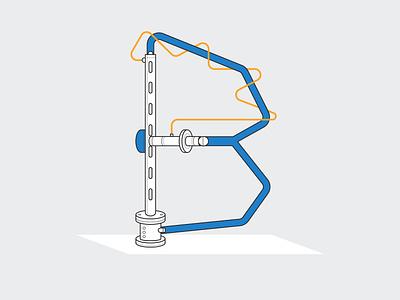 B for 36days of Type b machine 36daysoftype design illustrator vancouver graphic design illustration