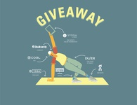 Yoga Giveaway Illustration stretch yoga people character illustrator graphic design illustration