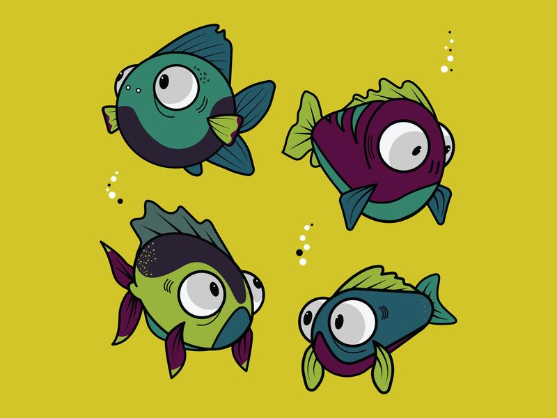 Fish Concept animal art app fishbowl animal cartoon fish fish illustration illustrator